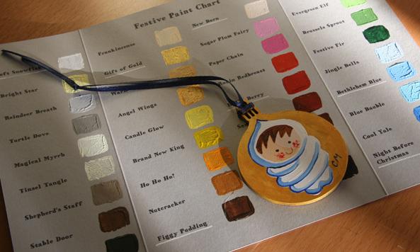 Festive Paint Chart - Christmas 2016