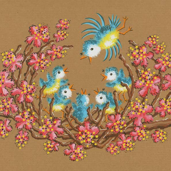 Baby Birds Nesting