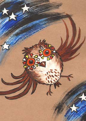 Artist's Book : Norman The Half An Owl