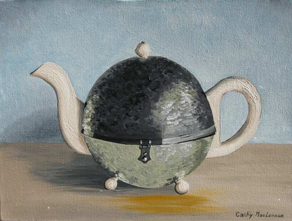 Sara's Teapot on Blue