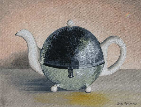 Sara's Teapot on Pink
